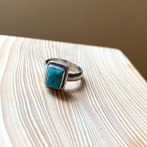 Rectangle Turquoise Ring